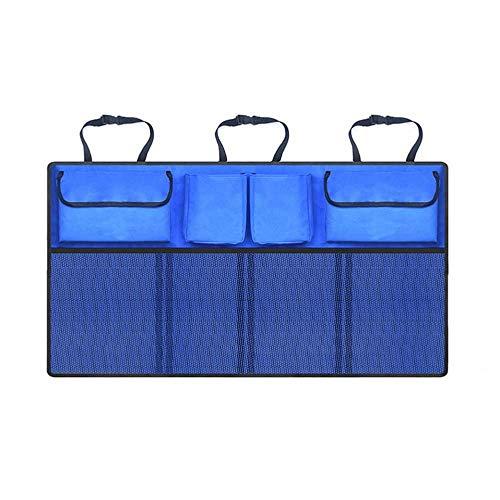 ZKZK Netzlaufwerk Auto-Kofferraum Aufbewahrungstasche Verstellbarer Rücksitzaufbewahrungstasche Netto-Autositz, Rückaufbewahrungstasche, Auto-Innen Zubehör liefert (Color : BlueD)