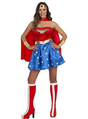 Funidelia | Costume Wonder Woman Ufficiale per Donna Taglia S ▶ Supereroi, DC Comics, Lega della Giustizia