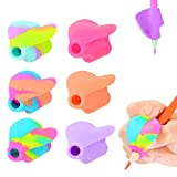 Pencil Grips for Children - Pencil Grippers Hand Writing Tools - Ergonomic Writing Aid for Kids for Lefties or Righties(Pack of 6)
