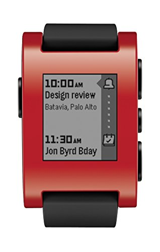 Pebble Smartwatch for iPhone and Android ( ブラック / レッド ) 並行輸入品