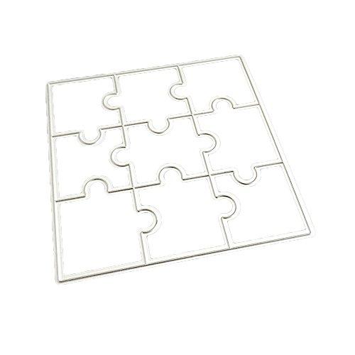 Gesh Puzzles - Plantilla de corte de acero al carbono para manualidades, álbum de recortes, tarjetas de papel, decoración (puzzles)