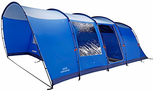 Vango Farnham Family Tunnel Tent, River Blue, 600