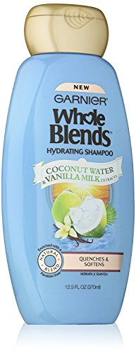 Garnier Whole Blends Hydrating 2-in-1 Shampoo & Conditioner with Coconut Water & Vanilla Milk Extracts, 12.5 Fluid Ounce