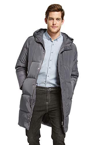 Orolay Hombre Chaqueta Gruesa Abrigo de Invierno cálido Gris Small