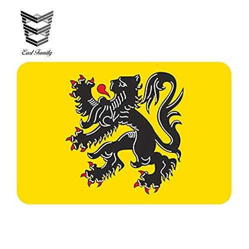 N/X YDBDB 13cm x 8,7 cm Auto Styling Vlaanderen Vlaamse Vlag Auto Sticker Bumper Vlaanderen BelgiumM Waterdicht Windows Accessoires