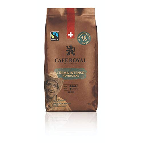 Café Royal Honduras Crema Intenso Bohnenkaffee 1kg - Fairtrade - Intensität 4/5 - 100% Arabica aus Honduras