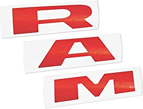Reflective Concepts - RAM Grille Emblem Overlay Decal -Fits: 2019-2020 Ram Rebel - (Color: Reflective Red)