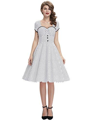 a Linie Casual Kleid festlich Petticoat Kleid Damen Moderne Kleid Audrey Hepburn Kleider