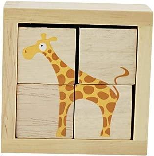 BeginAgain BuddyBlocks Safari Animals - Matching and Problem Solving - Kids 18 Months and Up