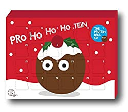 The Protein Ball Co. Protein Balls Christmas Advent Calendar - Gluten Free, Vegan & 100% Natural Containing A Combination Of Six Vegan Flavours, There Is A Tasty Protein Ball Behind Each Window, So You Can Enjoy A Different Flavour Every Day There's ...