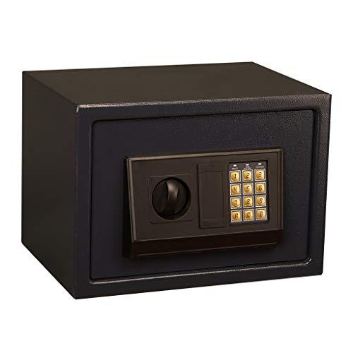 Casseforti Cassetta di sicurezza elettronica con 2 bulloni di bloccaggio for l'antifurto da incasso sicuro for l'ufficio in casa - Nero (31 * 20 * 20 cm) Safe