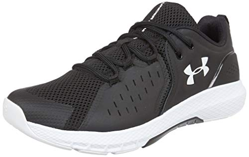 Under Armour Men's Charged Commit 2.0 Cross Trainer Running Shoe, Black (001)/White, 10.5