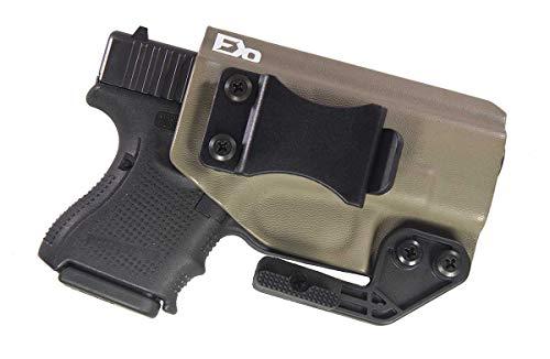 "Fierce Defender IWB Kydex Holster Glock 26 27""Paladin Series (Flat Dark Earth)"
