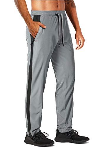 MAGCOMSEN Workout Pants for Men Zipper Pockets Running Pants Men Yoga Pants Quick Dry Pants Summer Pants Gym Pants Hiking Pants for Men