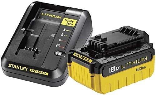 STANLEY FATMAX FMC694M1-QW - Pack Cargador de 2Ah con 1 batería de litio 18V de 4Ah