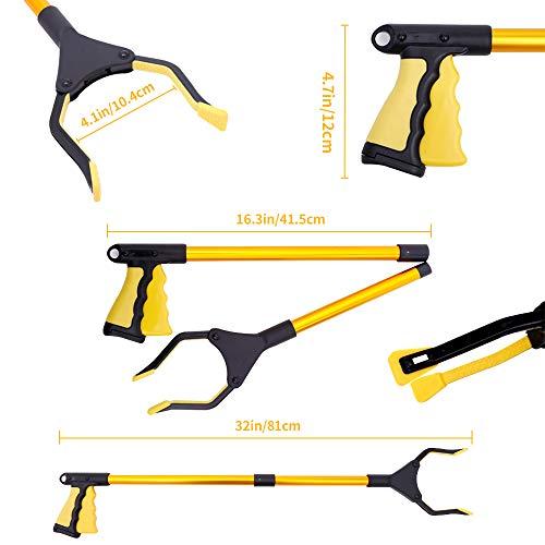 "zhenzhen Grabber Reacher Tool,32""Folding Pick up Tool,360° Rotating Anti-Slip Jaw,Grabber Reacher Tool, Trash Picker Grabber,Grabber Tool for Elderly, Lightweight Trash Picker."
