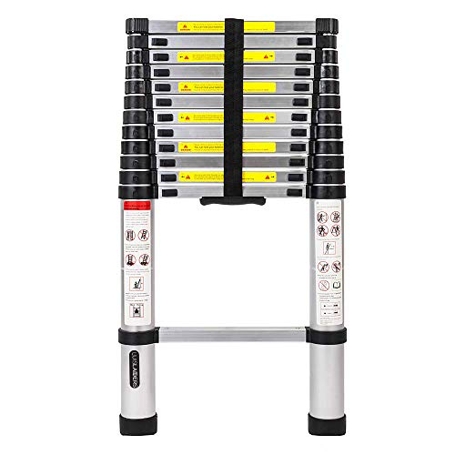 Luisladders Aluminum Telescoping Telescopic Extension Ladder 330 Pound Capacity 125 Feet