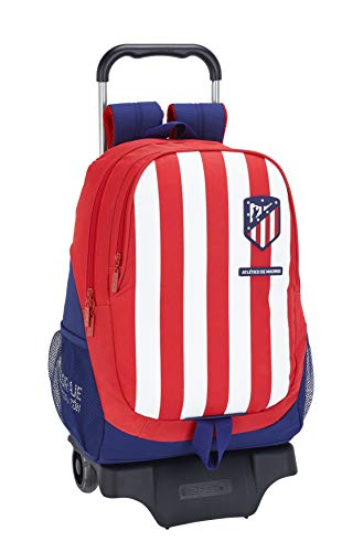 Mochila Escolar de Atlético de Madrid Oficial con Carro 330x150x430mm