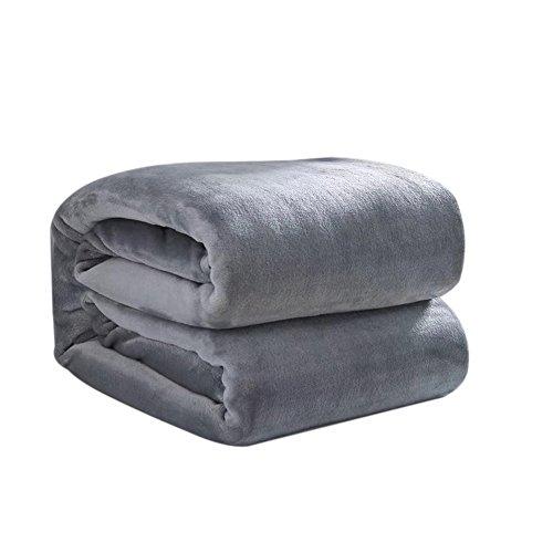 HINK Serviette Super Doux Chaud Solide Chaud Micro Couverture Polaire en Peluche Jeter Tapis canapé literie Maison et Jardin Textiles de Maison