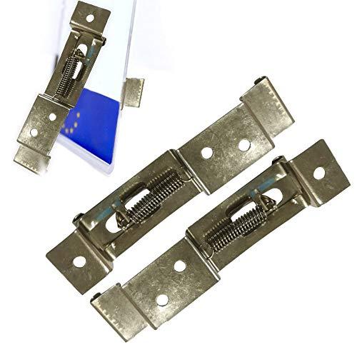Lot de 2/4 pinces de plaque d'immatriculation pour remorque, pinces de plaque d'immatriculation, support de plaque d'immatriculation en acier inoxydable à ressort