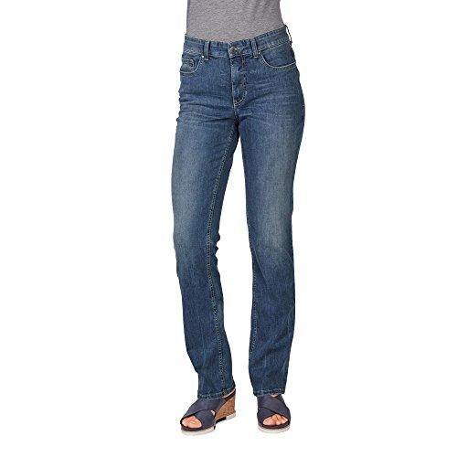 MAC Jeans Damen Melanie Straight Jeans, Blau (Blau...