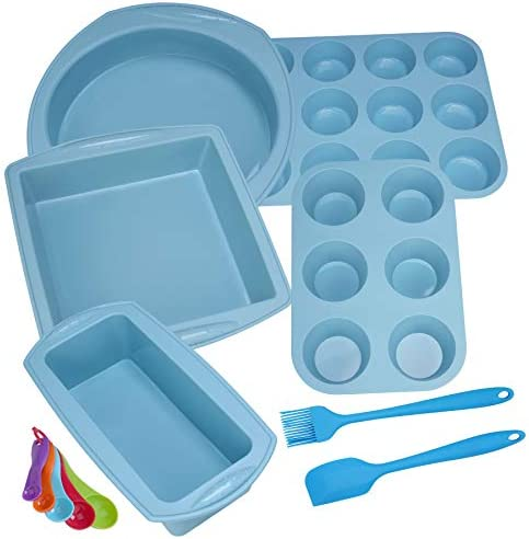 Aschef Silicone Nonstick Baking Pans Mold Tray Supplies Tools Bakeware Set BPA Free Food Grade product image