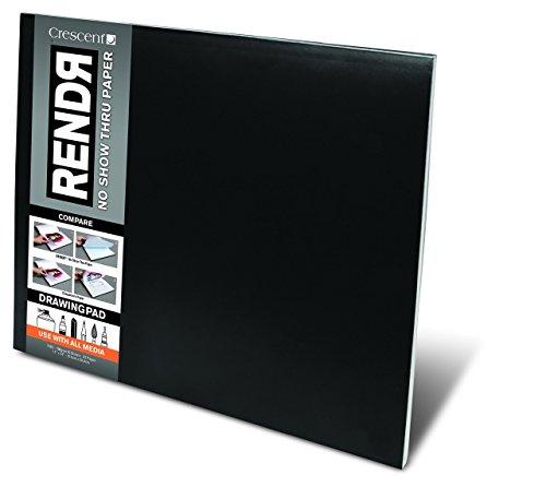 Crescent RENDR Markerpapier - großes Zeichenblock 32 Seiten/16 Blatt - 180g - 28x35,5cm