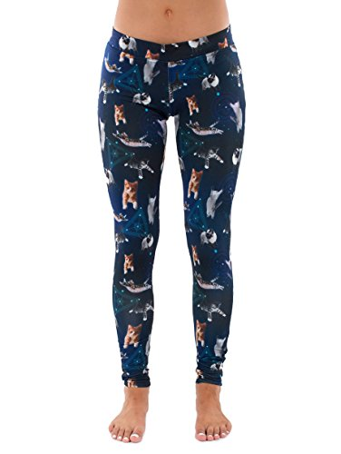 Cats in Space Leggings: Large Blue