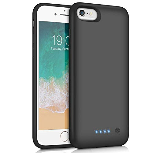 Funda Batería para iPhone 7/6/6s/8, Feob Funda Cargador 6000mAh Carcasa Batería Externa Recargable Cargador Portatil Power Bank Case para Apple iPhone 7/8/6/6S(4,7