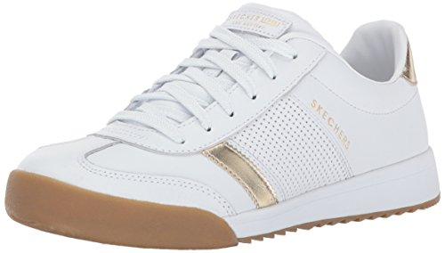 Skechers 960, Women's Low-Top Trainers, White (White/Gold), 4.5 UK (37.5 EU)