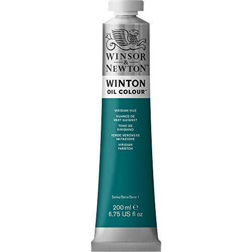 Winsor & Newton 1437696 Winton, feine hochwertige Ölfarbe - 200ml Tube mit gleichmäßiger Konsistenz, Lichtbeständig, hohe Deckkraft, Reich an Farbpigmenten - Viridian Farbton