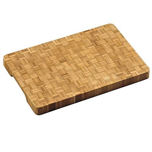 KESPER 58181 Profi-Schneidebrett aus Bambus (Stirnholz) 36 x 24 x 3 cm