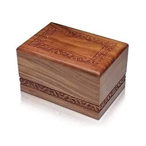TYHZ Cremación Urnas Caja de urnas funerarias, Hecho a Mano y Grabado de Palisandro Hecho a Mano Caja de cremación de Madera/urnas para Cenizas humanas Adulto urna de cremación para Mascotas