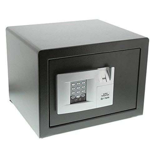 BURG-WÄCHTER Möbeltresor mit elektronischem Zahlenschloss und Fingerscan, Point-Safe, 20,5 l, 14,5 kg, P 2 E FS, Schwarz
