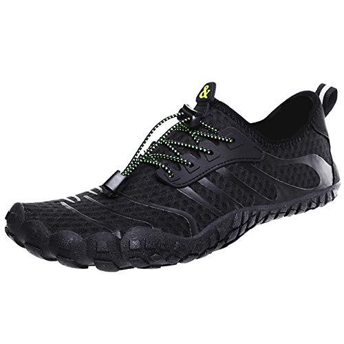 ZusFut Escarpines Hombres Barefoot Fivefingers Respirable Antideslizante Zapatos de Agua Hombre para Deportes Acuáticos Buceo Surf Playa Rio Pesca (ZUSFUT2, 44 EU)
