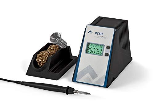 ERSA i-CON PICO digital regelbare Lötstation 80 Watt im Set inkl. Zubehör wie stabile Lötkolbenhalterung, Lötkolben i-Tool Pico | Löttemperatur regelbar 150 bis 450 °C | Auto-Standby