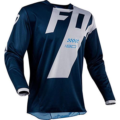 KKQTMY hpit fox mtb bike jerseys motocross bmx racing t-shirt downhill dh short sleeve cycling clothes mx summer jersey -S