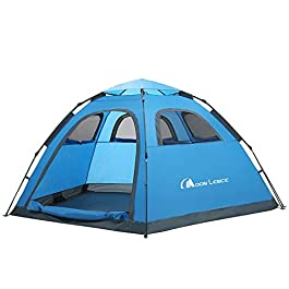 MOON LENCE Instant Pop Up Tent Family Camping Tent 4-5 Person Portable Tent Automatic Tent Waterproof Windproof for…