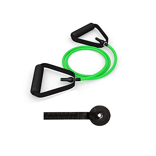 SHYSBV Elastische banden van TPE 120 cm, voor fitness, yoga, fitness, training voor thuis, weerstandsbanden met deurvergrendeling