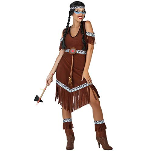 Atosa 54078 Costume Indian Woman XL Brown-Carnival Adulti, Marrone, Donna