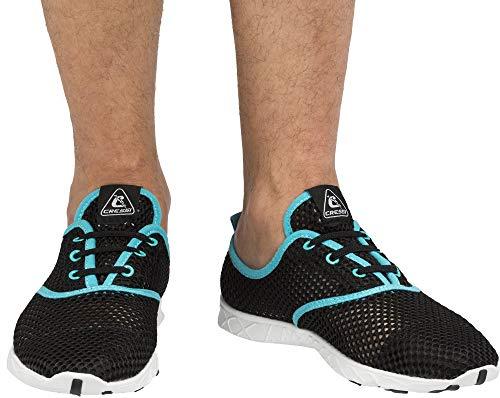 Cressi 1946 Aqua Shoes Zapatos Deportivo para Uso Acuático, Negro/Azul Claro, 40