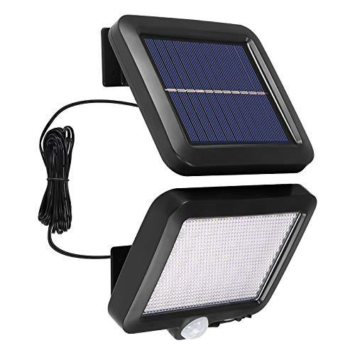 YUNYODA Reflector, Sensor De Movimiento Solar Luces De Seguridad Luces Inteligentes a Prueba De Agua con Energía Solar Luces De Pared Luces De Seguridad Solar para Puerta De Entrada Patio Valla