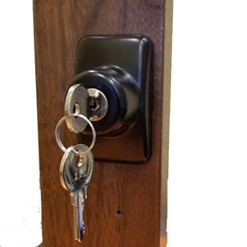 Keyed Storm Door Deadbolt - Black-1 Inch Thick Door