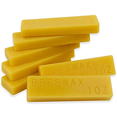 EricX Light Beeswax Bars 7oz,1oz for Each Beeswax Bars,Pack of 7 Beeswax Bars Cosmetic Grade