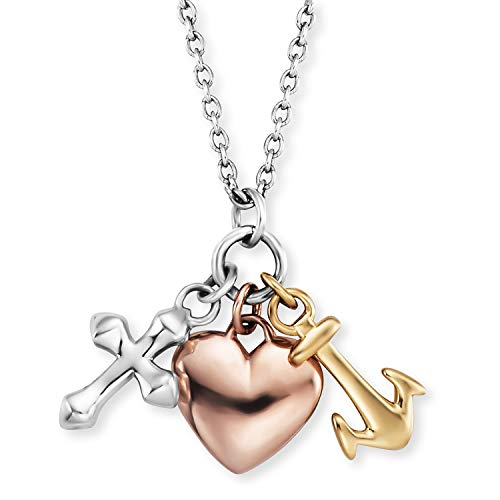 Engelsrufer Damen-Halskette Glaube, Liebe, Hoffnung ERN-FLH-TRICO
