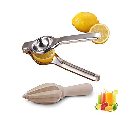 Stainless Steel Manual Fruit Juicers Wooden Fruit Juicer Squeezer Hand Press for Oranges Lemons Watermelon Citrus Reamers