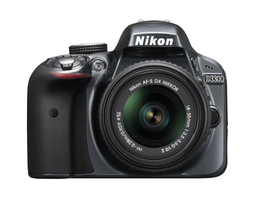 Nikon D3300 24.2 MP Digital SLR Camera (Grey) with 18-55mm...