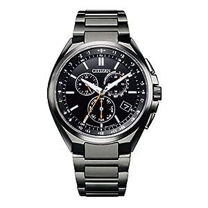 """[シチズン] 腕時計 アテッサ エコ・ドライブ電波時計 ダイレクトフライト CB5045-60E メンズ ブラック"""""""