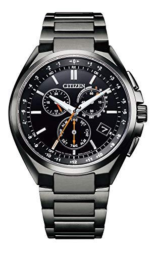 [シチズン] 腕時計 アテッサ エコ・ドライブ電波時計 ダイレクトフライト CB5045-60E メンズ ブラック