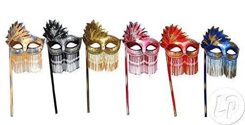 Fiesta Palace - masque vénitien strass avec baguette bois